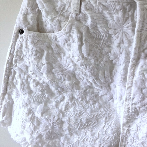 Free People Pants - Embroidered FP Shorts